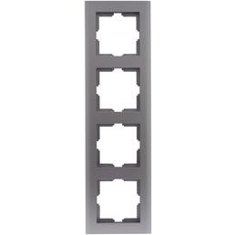 REV Rahmen 4-fach, Matrix, Platin, 1,5 cm