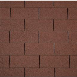 RENOVO Rechteck-Dachschindeln, Bitumen, rot, Paketinhalt: 2 m²