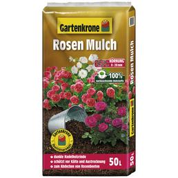 GARTENKRONE Rosenmulch, 50 l, braun