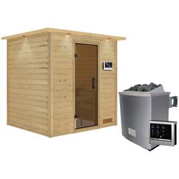 WOODFEELING Sauna »Anja« inkl. 9 kW Saunaofen mit externer Steuerung für 3 Personen