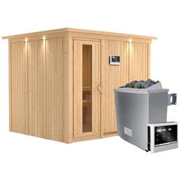 KARIBU Sauna »Jöhvi« inkl. 9 kW Saunaofen mit externer Steuerung für 4 Personen