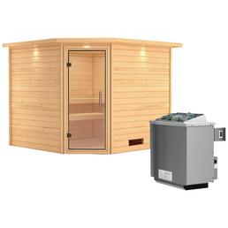 WOODFEELING Sauna »Leona« inkl. 9 kW Saunaofen mit integrierter Steuerung für 4 Personen