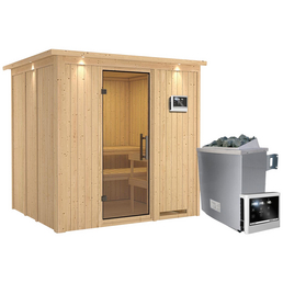 KARIBU Sauna »Rakvere« inkl. 9 kW Saunaofen mit externer Steuerung für 3 Personen