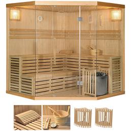 HOME DELUXE Sauna »Skyline XL BIG«, BxTxH: 200 x 200 x 200 cm, 8 kw, Saunaofen, int. Steuerung