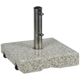 CASAYA Schirmständer »GARDEN LIVING«, Edelstahl/Granit, BxHxL: 45,5 x 10 x 45,5 cm