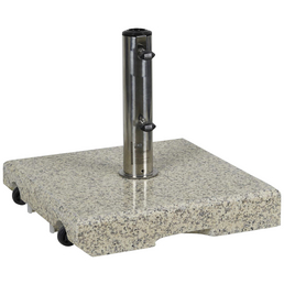 CASAYA Schirmständer »GARDEN LIVING«, Edelstahl/Granit, BxHxL: 45,5 x 8 x 45,5 cm