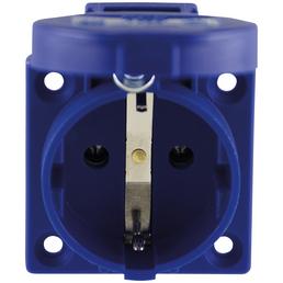 REV Schutzkontakt-Einbau-Steckdose, 250 V, Blau