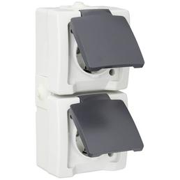 KOPP Schutzkontakt-Steckdose »NAUTIC«, grau, Kunststoff