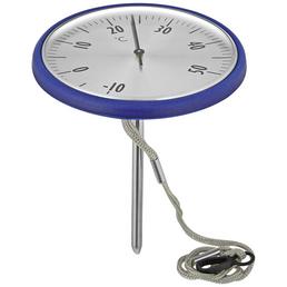 MR. GARDENER Schwimmbadthermometer, Kunststoff, blau