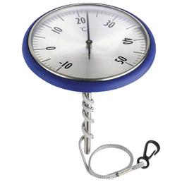 SUMMER FUN Schwimmthermometer, Kunststoff, blau