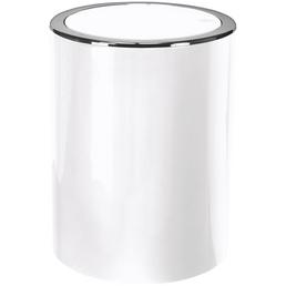 KLEINE WOLKE Schwingdeckeleimer CLAP zylindrisch Kunststoff schneeweiß Ø 19 x 24,5 cm