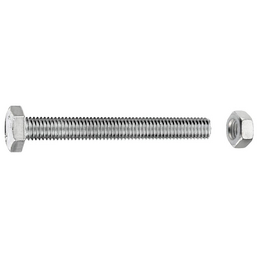 GECCO Sechskantschraube, 8 mm, Metall, 15 Stück