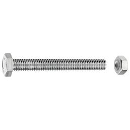 GECCO Sechskantschraube, 8 mm, Stahl, 40 Stück