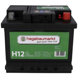 Starterbatterie, 12V/35 Ah 300A KSN H12, mit hagebaumarkt-Logo