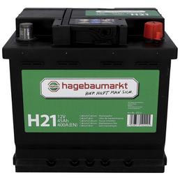 Starterbatterie, 12V/45 Ah 400A KSN H21, mit hagebaumarkt-Logo