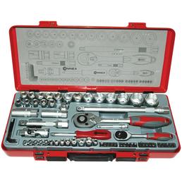 CONNEX Steckschlüsselsatz, COX580267, 67-tlg. Set, 6,3 + 12,5 mm