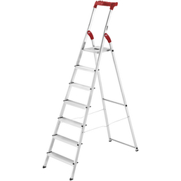 HAILO Stehleiter, 7 Stufen, Aluminium/Kunststoff
