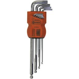 CONNEX Stiftschlüsselsatz, 9-teilig, Schlüsselgröße: 1,5; 2; 2,5; 3; 4; 5; 6; 8; 10 mm
