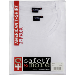 SAFETY AND MORE T-Shirt, Baumwolle, Weiß, XL