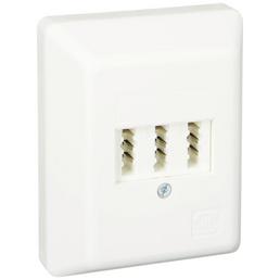 SCHWAIGER TAE-Anschlussdose AP, 3x6/6 NFN, Weiß, Kunststoff, Telefon und Zusatzgeräte