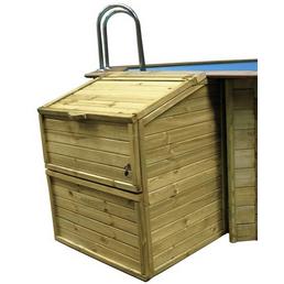 GRE Technikbox, BxHxT: 100 x 118 x 88 cm, Holz, geeignet für: Holzpools