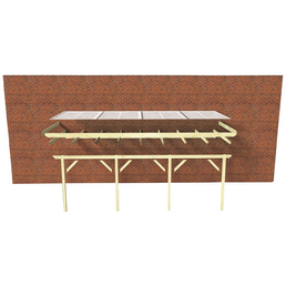 KARIBU Terrassendach »Modell 3«, H (max) x B x T: 222  x 200 x 350 cm