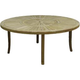 CASAYA Tisch, ØxH: 180 x 74,5 cm, Tischplatte: Teakholz