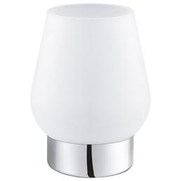 EGLO Tischleuchte »DAMASCO 1« weiß/chromfarben mit 60 W, H: 17,5 cm, E14 ohne Leuchtmittel