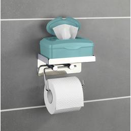 WENKO Toilettenpapierhalter »2 in 1«, BxHxT: 16 x 12,5 x 11,5 cm, edelstahlfarben