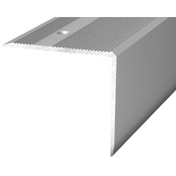 CARL PRINZ Treppenkantenprofil, silberfarben, BxLxH: 45 x 2500 x 40 mm