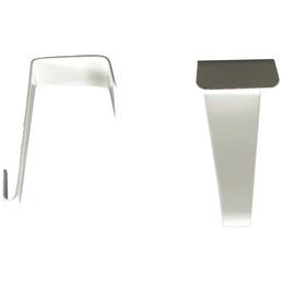 CASAYA Türhaken, Einzelhaken, Weiß, Weiß, Metall, Metall, 40 x 20 x 23 mm