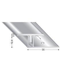 KÜGELE PROFILE Übergangsprofil-Set »T-FLEX«, BxL: 30 x 1000 mm, Höhe: 13-18 mm, silberfarben