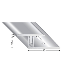 KÜGELE PROFILE Übergangsprofil-Set »T-FLEX«, silberfarben, BxLxH: 30 x 1000 x verstellbar 13-18 mm