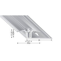 KÜGELE PROFILE Übergangsprofil-Set »TRIO GRIP® x«, silberfarben, BxLxH: 33,6 x 2700 x verstellbar 7-15 mm