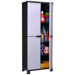 KREHER Universalschrank »Noble«, BxHxT: 68 x 171 x 40 cm, Kunststoff, weiß