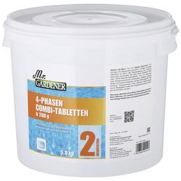 MR. GARDENER Wasserpflege, 5 kg 4 Phasen Combi Tabletten, für Pools