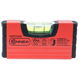 CONNEX Wasserwaage, Länge: 10 cm, rot/schwarz