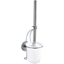 WENKO WC-Bürsten & WC-Garnituren »Milazzo«, Edelstahl/Stahl/Kunststoff, glänzend, weiß/chromfarben