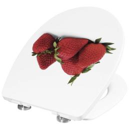 CORNAT WC-Sitz »ERDBEERE«, Thermoplast, oval, mit Softclose-Funktion