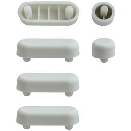 WELLWATER WC-Sitz-Puffer, Kunststoff, weiß