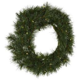 CASAYA Weihnachtskranz »Sölden«, Ø 45 cm, grün, Kunststoff, beleuchtet