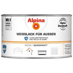 alpina Weißlack, weiss, seidenmatt