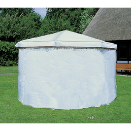 PROMADINO Wetterschutzumhang, BxHxT: 595 x 162 x 1 cm, weiß, Polyethylen (PE)