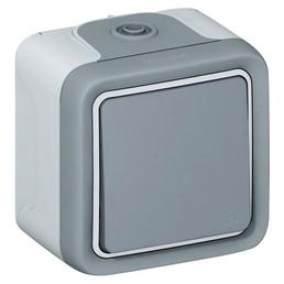 LEGRAND Wippschalter, Programm Plexo, Kunststoff, Grau