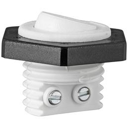 REV Wippschalter, Weiß/Schwarz, Kunststoff