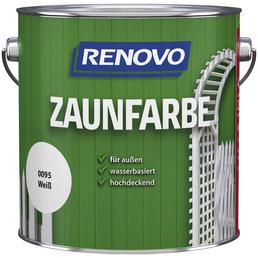 RENOVO Zaunfarbe, weiß, deckend, 4l