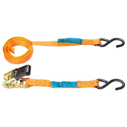 CONNEX Zurrgurt, Polyester, Orange, 4 Stück, 450 x 2,5 cm